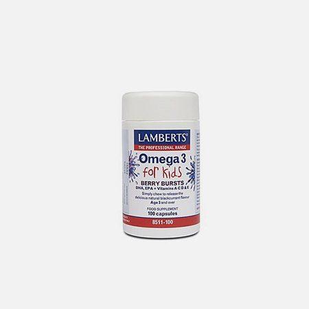 Omega 3 For Kids – 100 cápsulas – Lamberts