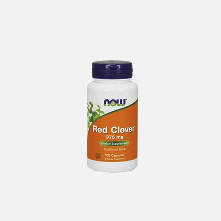 Red Clover 375 mg – 100 cápsulas – Now