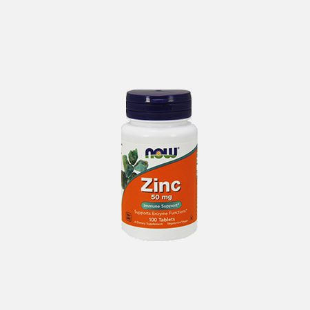 Zinc Gluconate 50mg – 100 comprimidos – Now