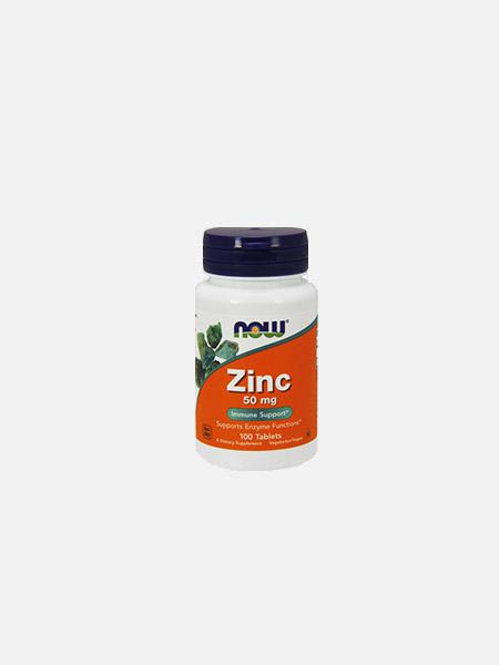 Zinc Gluconate 50mg - 100 comprimidos - Now