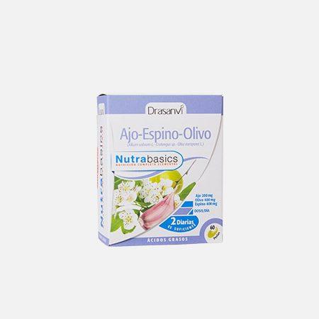 Nutrabasics Alho, Espinheiro e Oliveira – 60 cápsulas – Drasanvi