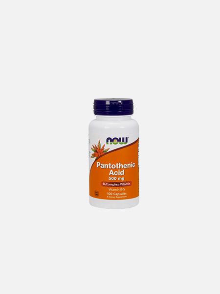 Pantothenic Acid 500mg - 100 cápsulas - Now