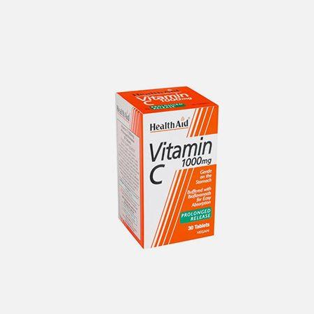 Vitamina C 1000mg Libertação Prolongada – 30 comprimidos – Health Aid