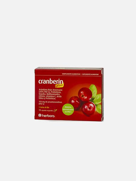 Cranberin plus - 15 cápsulas - Herbora