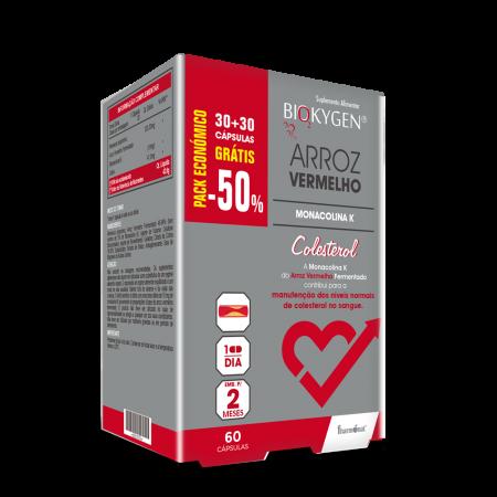 Biokygen Arroz Vermelho MonaKolina K – 60 cápsulas – Fharmonat