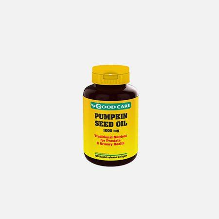 Pumpkin Seed Oil 1000mg Óleo de sementes de Abóbora 1000mg – 100 cápsulas – Good Care