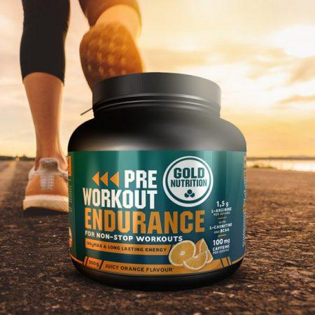 Pre Workout Endurance sabor Laranja- 300g – Gold Nutrition