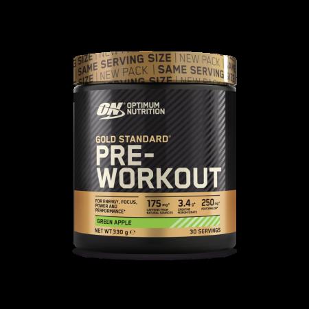 Gold Standard Pre-Workout Green Apple – 330g – Optimun Nutrition