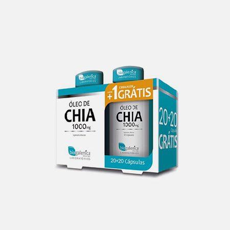 Óleo de Chia 1000mg – 20 cápsulas + 20 oferta – Biogalenica