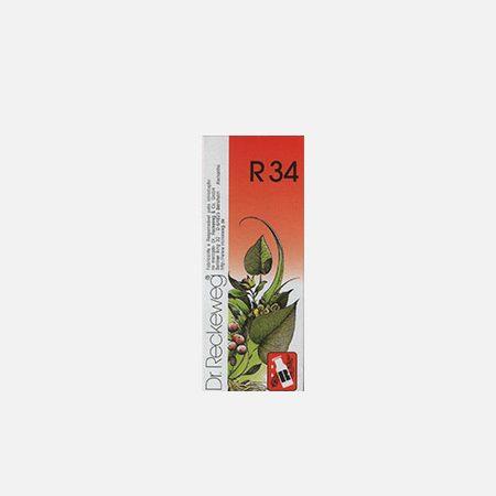 R34 – Escoliose, Crescimento Assimétrico – 50ml – Dr. Reckeweg
