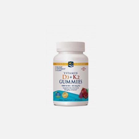 Vitamin D3 + k2 Gummies – 60 unidades – Nordic Naturals