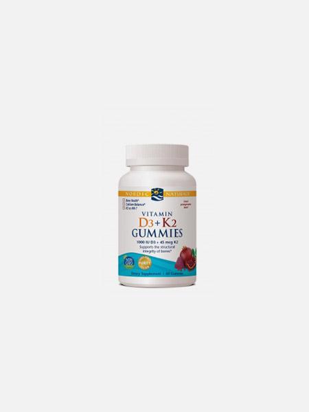 Vitamin D3 + k2 Gummies - 60 unidades - Nordic Naturals
