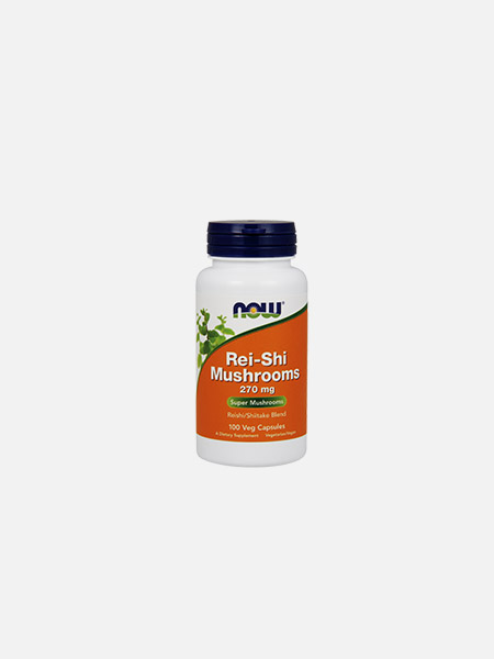Rei-Shi Mushrooms 270 mg - 100 cápsulas - Now