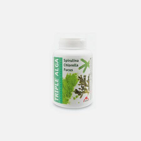 Triple Alga – Spirulina, Clorela, Fucus – 120 cápsulas – Dietética Intersa