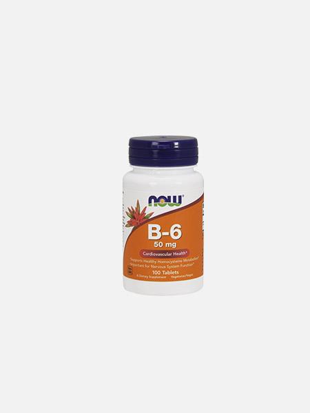 Vitamin B-6 50mg - 100 comprimidos - Now