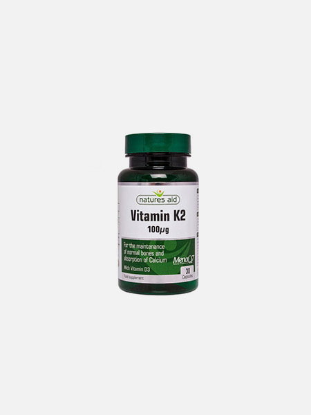 Vitamina K2 + D3 - 30 cápsulas - Natures Aid