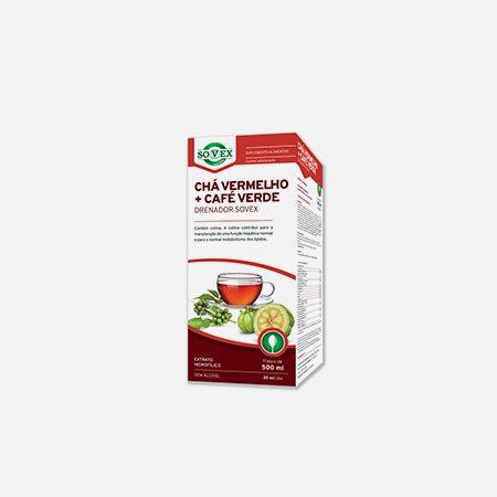 Chá Vermelho + Café Verde Drenador – 500ml – Sovex