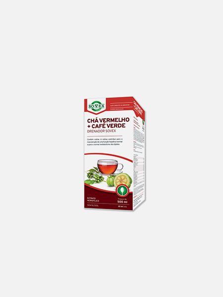 Chá Vermelho + Café Verde Drenador - 500ml - Sovex