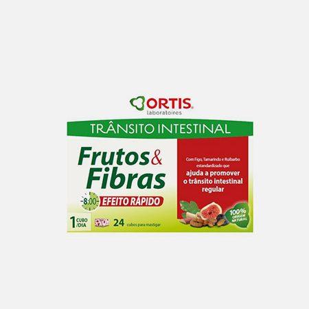 Frutos e Fibras Efeito Rápido – 24 cubos – Ortis