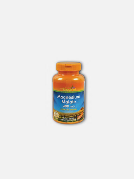Magnesium Malate 400mg - 120 comprimidos - Thompson