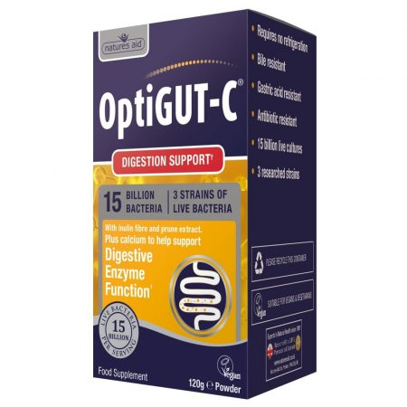 OptiGUT-C (15 Billion Bacteria) – 120g – Natures Aid