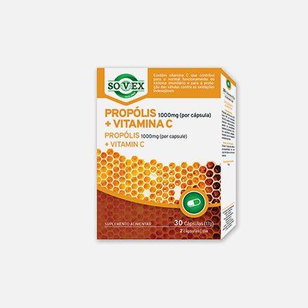 Propólis 1000mg + Vitamina C – 30 cápsulas – Sovex