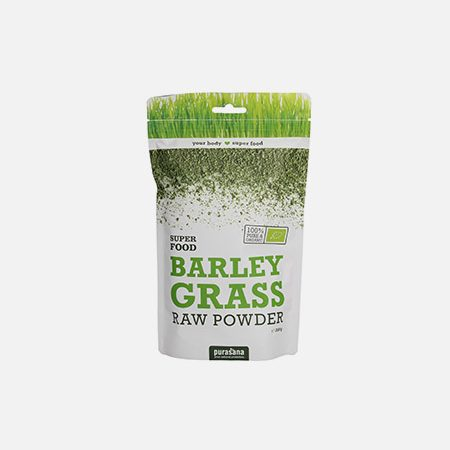 Barley Grass Raw Powder Erva De Cevada Em Pó Bio – 200g – Purasana