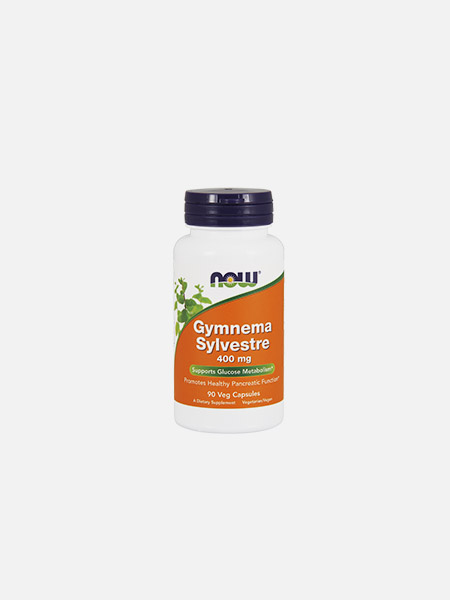 Gymnema Sylvestre 400 mg - 90 cápsulas - Now - Nutribio