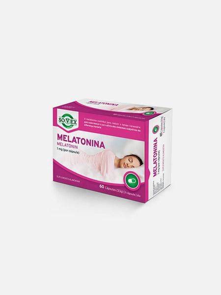Melatonina - 60 cápsulas - Sovex