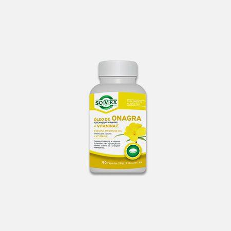 Óleo de Onagra 1050mg + Vitamina E – 90 cápsulas – Sovex