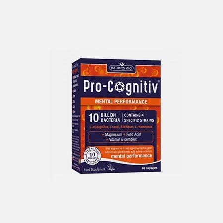 Pro-Cognitiv (10 Billion Bacteria) – 60 cápsulas – Natures Aid
