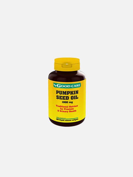 Pumpkin Seed Oil 1000mg - 60 cápsulas - Good Care