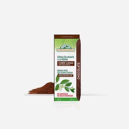 Creme coloração cabelo Henna Chocolate – 60ml – Corpore Sano