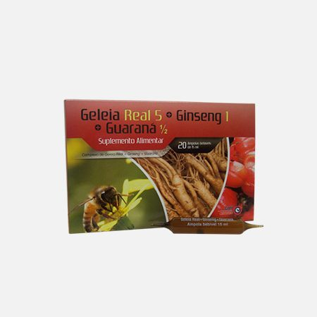 Geleia Real Ginseng Guaraná Complex – 20 ampolas – Soldiet