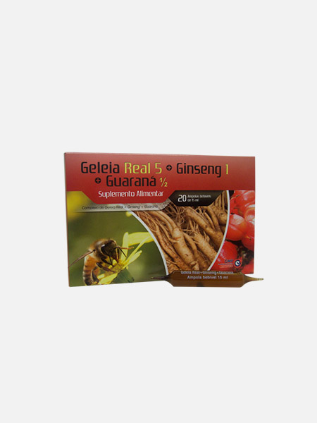 Geleia Real Ginseng Guaraná Complex - 20 ampolas - Soldiet