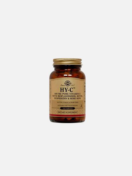 Hy-C (600 mg Vitamin C 100 mg Bioflavonoids) - 100 comprimidos - Solgar