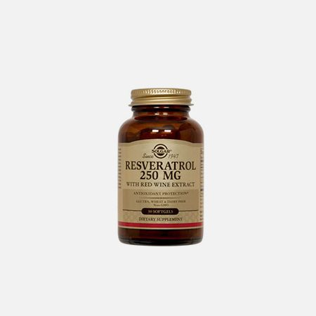 Resveratrol 250 mg – 30 cápsulas – Solgar