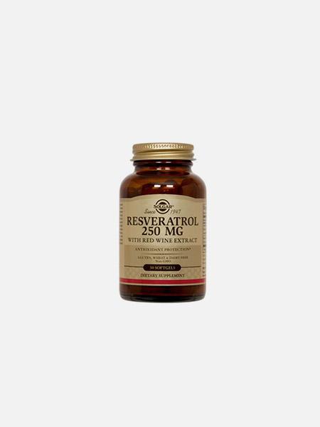 Resveratrol 250 mg - 30 cápsulas - Solgar