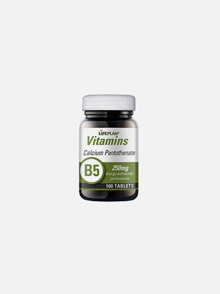 Calcium Pantothenate B5 250mg - 100 cápsulas - Lifeplan
