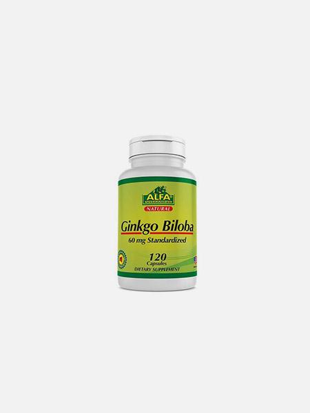 Ginkgo Biloba 60 mg - 120 cápsulas - Alfa Vitamins