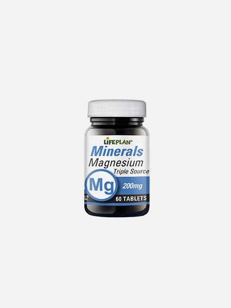 Magnesium Triple Source 200mg - 60 comprimidos - LifePlan