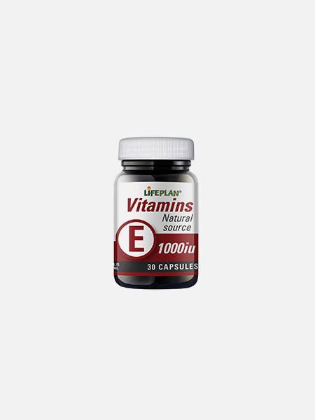 Vitamin E 1000iu - 30 cápsulas - Lifeplan