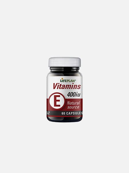 Vitamin E 400iu - 60 cápsulas - LifePlan