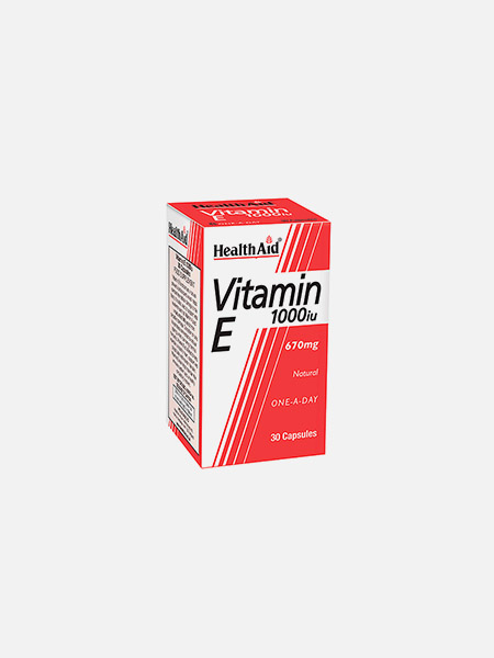 Vitamina E 1000iu Natural - 30 cápsulas - HealthAid