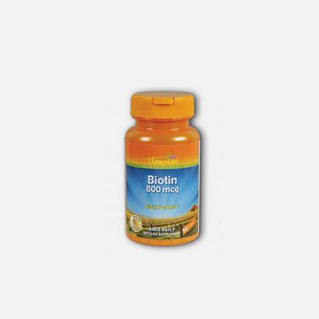 Biotina 800mg – 90 cápsulas – Thompson