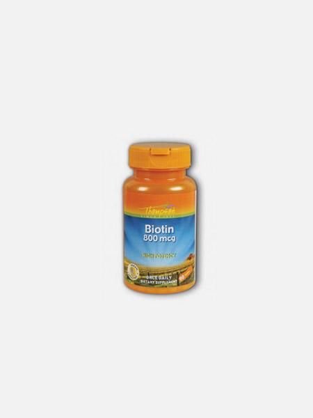 Biotina 800mg - 90 cápsulas - Thompson