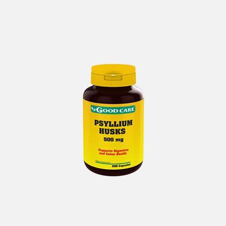 Psyllium Husks 500mg – 200 cápsulas – Good Care