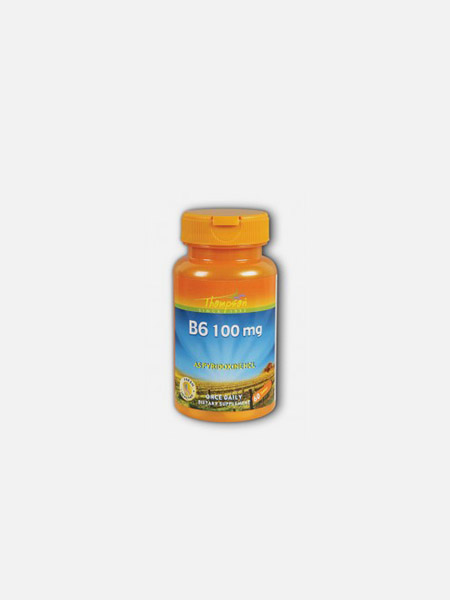 Vitamina B6 Pyridoxina 100mg - 60 comprimidos - Thompson