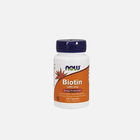 Biotina 1000 mcg – 100 cápsulas – Now