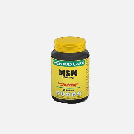MSM 1500 mg – 60 comprimidos – Good Care